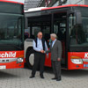 The two new Setra S 415 NF from the handover